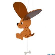 Závěsná hračka - Pejsek s kostičkou (Goki)