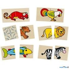 Puzzle pro nejmenší - Pexeso popletená zvířátka, 32ks ('cause)