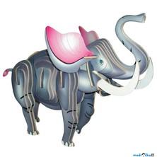 3D Puzzle barevné - Slon