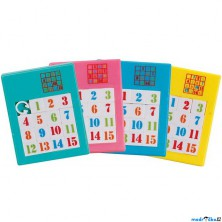 Hlavolam plastový - Posunovací puzzle čísla, 1ks (Goki)