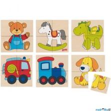 Skládací obrázky - První puzzle Hračky, 24ks (Goki)
