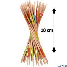 Společenská hra - Mikádo dřevěné, 18cm (Goki)