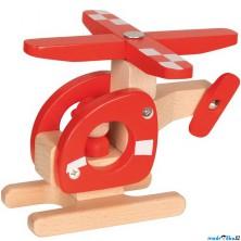 Vrtulník - Helikoptéra dřevěná (Goki)