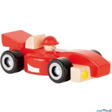 Auto - Červená závodnička ze dřeva, 20cm (Goki)