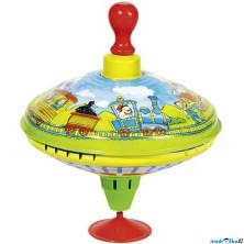 Plechová hračka - Káča 18,5cm, Vláček (Goki)