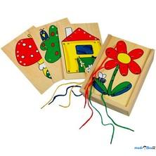 Šití - Provlíkací destičky v krabičce, Obrázky (Bino)