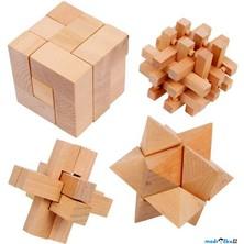 Hlavolam dřevěný - Set 4 hlavolamů (Legler)