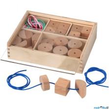 Navlékání tvarů - Navlékací korálky LUSTIGT (Ikea)