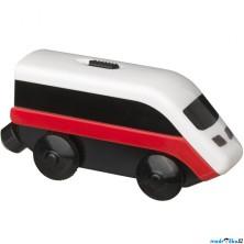 Vláčkodráha vláčky - Elektrická lokomotiva, LILLABO (Ikea)