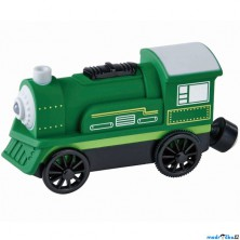 Vláčkodráha vláčky - Elektrická lokomotiva, zelená (Maxim)
