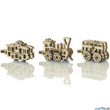 3D mechanický model - Widgets, Doprava veřejná (Wooden City)