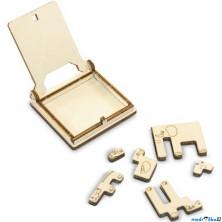 Hlavolam dřevěný - Cestovní mini hra, ZOO puzzle (Wooden City)