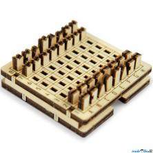 Šachy - Cestovní mini hra, přírodní dřevo (Wooden City)