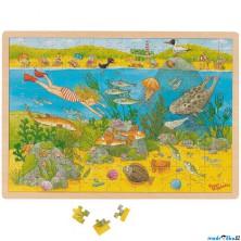 Puzzle na desce - Velké A3, Ekologie v moři, 192ks (Goki)