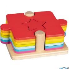 Vkládačka - 2v1 puzzle a přiřazovací hra (Goki)
