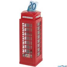 Pokladnička plechová - Telefonní budka (Goki)