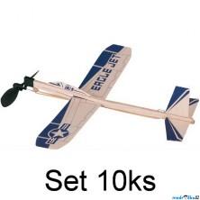 Letadlo házecí - Eagle Jet na gumičku, set 10ks (Goki)
