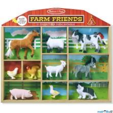 Zvířátka - Set sametových zvířat, Farma 10ks (M&D)