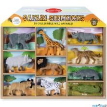 Zvířátka - Set sametových zvířat, Safari 10ks (M&D)