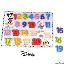 Puzzle výukové - Velké dřevěné čísla Mickey (Disney Derrson)