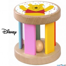 Hračka pro batolata - Dřevěný váleček Medvídek Pú (Disney Derrson)