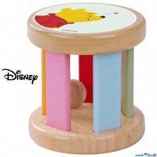 Hračka pro batolata - Dřevěný váleček Medvídek Pú V2 (Disney Derrson)