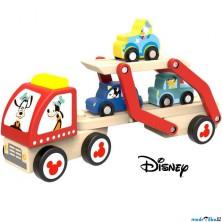 Auto - Dřevěný Goofyho tahač s autíčky (Disney Derrson)