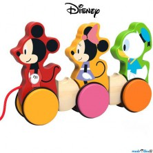 Tahací hračka - Mickey, Minnie a Donald dřevěná (Disney Derrson)