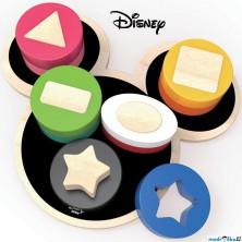 Vkládačka - Dřevěné motorické tvary Mickey (Disney Derrson)