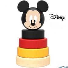 Skládačka s kroužky - Dřevěná pyramida Mickey Mouse (Disney Derrson)