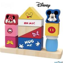 Skládačka - Nasazování na tyč, Veselé kostky Mickey a Minnie (Disney Derrson)