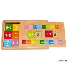Puzzle výukové - Kartičky s počty, 81ks (Woody)