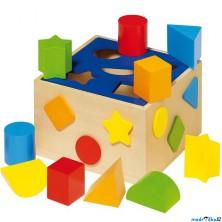 Vhazovačka - Vkládací krabička s tvary (Goki)
