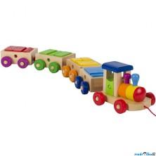 Vlak dřevěný - Vláček s kostkami Philadelphia (Goki)