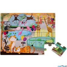 Puzzle hmatové - Dotykové, V zologické zahradě, 20ks (Janod)