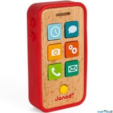 Telefon dětský - Dřevěný se zvuky a obalem (Janod)