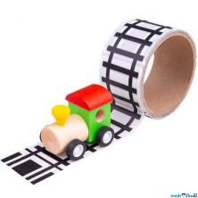Lepící páska - Koleje s dřevěnou mašinkou (Bigjigs)