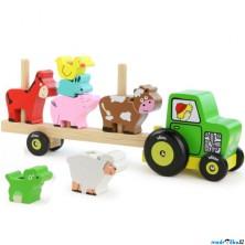 Auto - Nasazovačka traktor se zvířátky (Vilac)