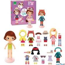 Puzzle oblékání magnetické - Dívka Chloe (Vilac)