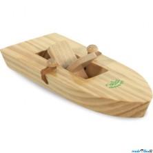 Loďka dřevěná - Na gumičkový pohon (Vilac)
