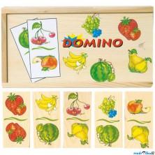 Domino - Ovoce dřevěné, 28ks (Woody)