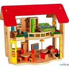 Domeček pro panenky - Šťastný domov + nábytek (Voila)