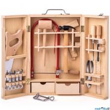 Malý kutil - Kovové nářadí v dřevěném boxu velké (Woody)