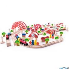 Vláčkodráha Woody - S hlavním nádražím, 130 dílů