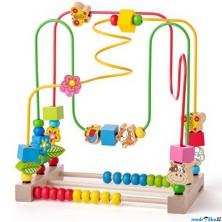 Motorický labyrint drátěný - S počítadlem a zvířátky (Woody)