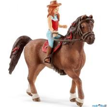 Schleich - Kůň s jezdcem, Zrzka Hannah a kůň Cayenne