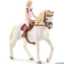 Schleich - Kůň s jezdcem, Blondýna Sofia a kůn Blosom