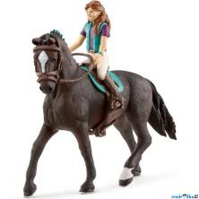 Schleich - Kůň s jezdcem, Hnědovláska Lisa a kůň Storm