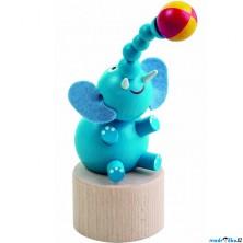 Mačkací figurka - Slon s míčem (Detoa)