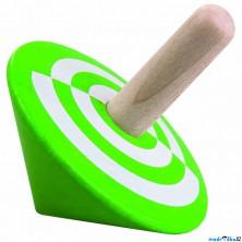 Drobné hračky - Káča dřevěná, Zelená (Detoa)